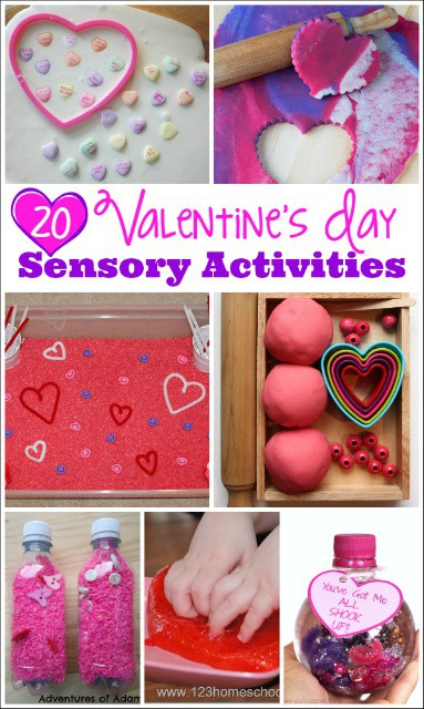 Love these Valentines Day Sensory Activities! Perfect for preschoolers!
