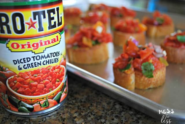 tex mex bruschetta recipe sponsored #HibernationSeason