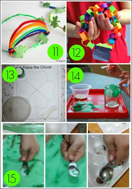 Kids Fine Motor Activities for St. Patrick's Day