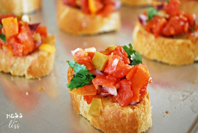 tex mex bruschetta recipe for party