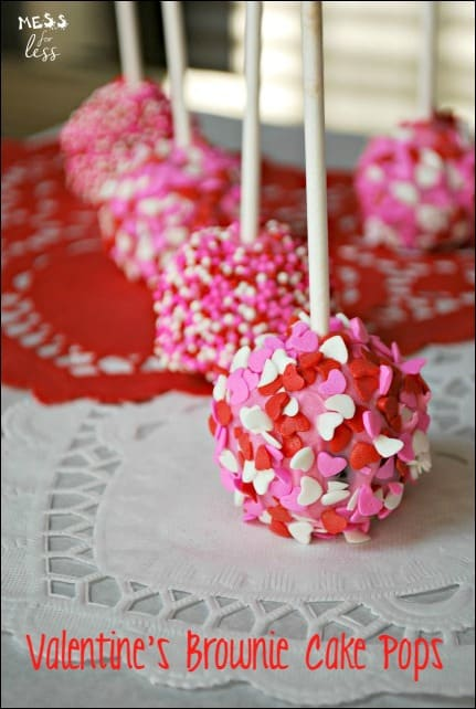 Valentine S Brownie Cake Pops Mess For Less