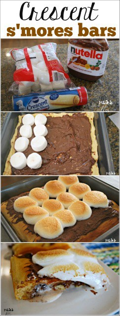 My daughter said these crescent s'mores bars were the best thing I ever made. Can't believe you only need 3 things to make them!