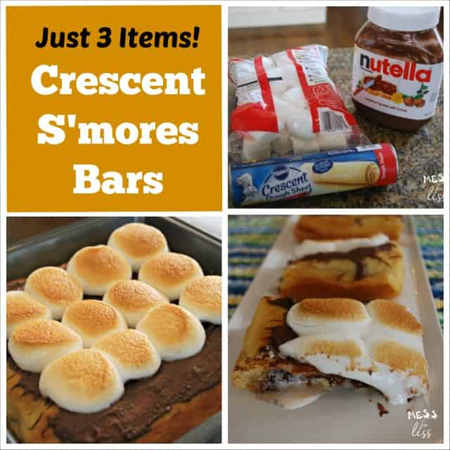 Crescent s'mores bars