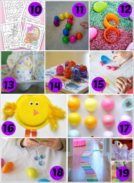 easter activities for preschoolers