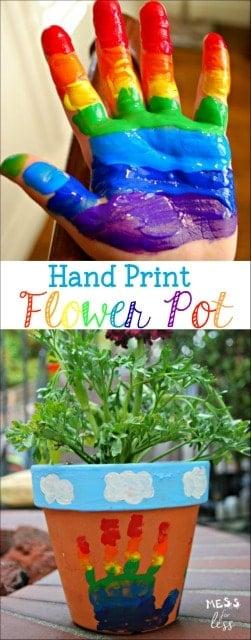 Preschool Craft Flower Pot