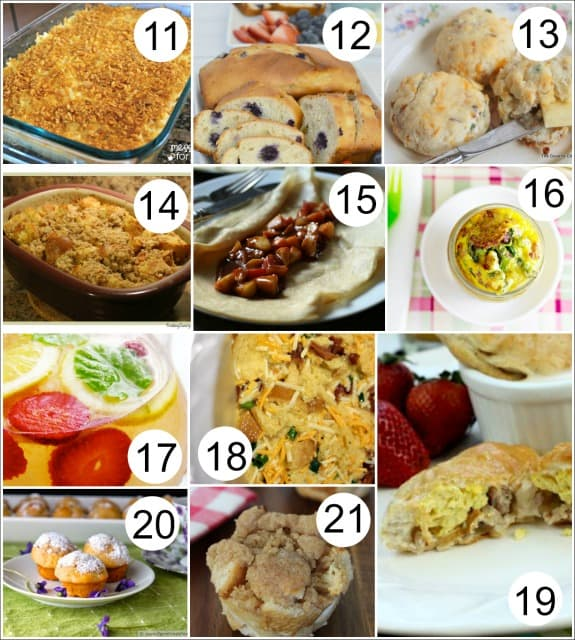 Mothers Day Brunch Recipes Collage