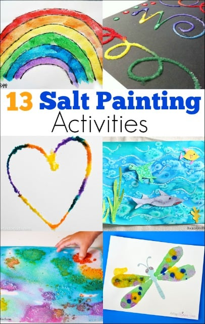13 Salt Painting Activities Mess For Less