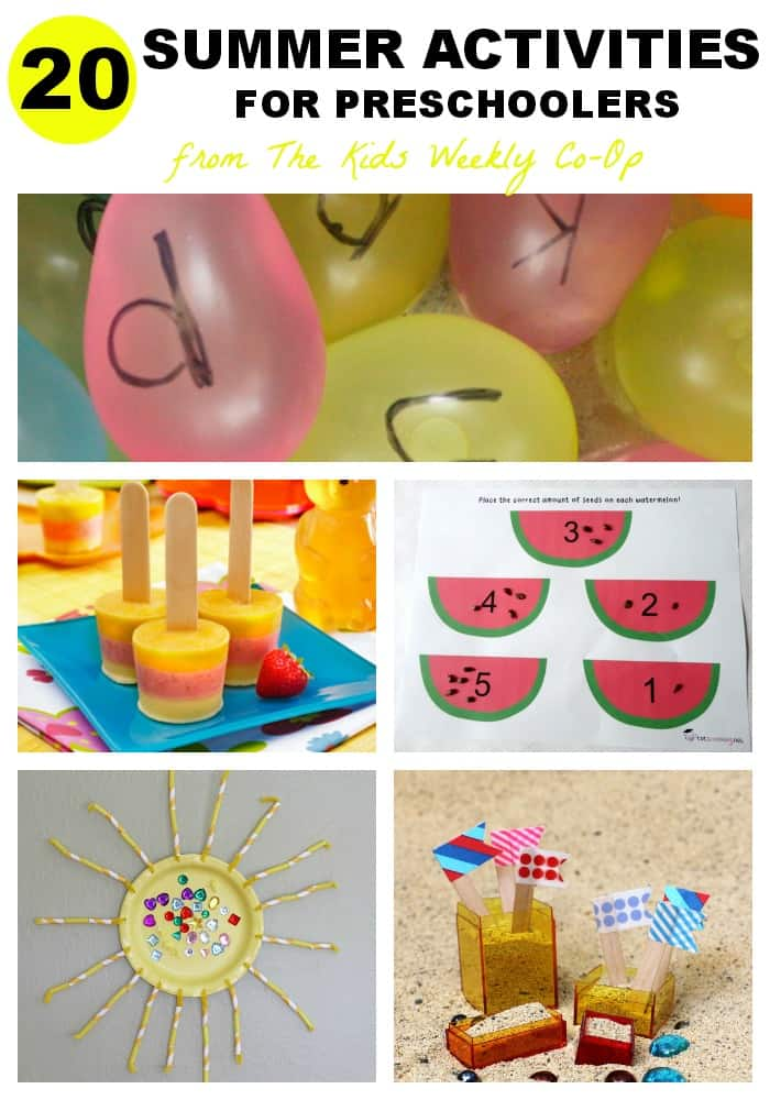 20 Summer Activities for Preschoolers - Mess for Less