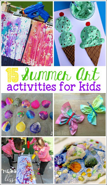 Summer Art Activities For Kids Mess For Less