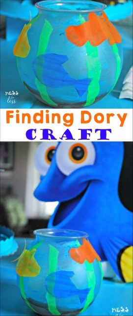My kids are so excited about the movie that they loved making this Finding Dory craft. Great activity for a Finding Dory party. #FindingDory #ad