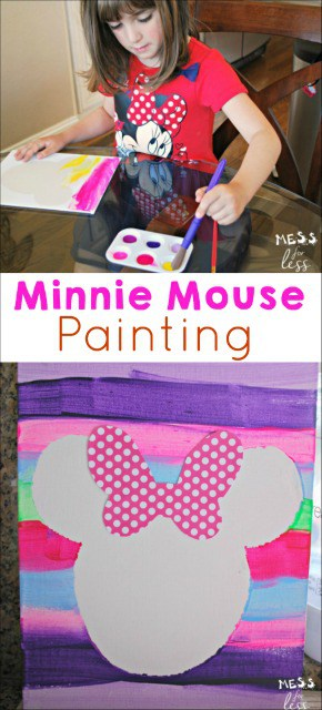 Make this fun Minnie Mouse Craft with your child and enjoy some mommy and me time. #ad #MinnieMe