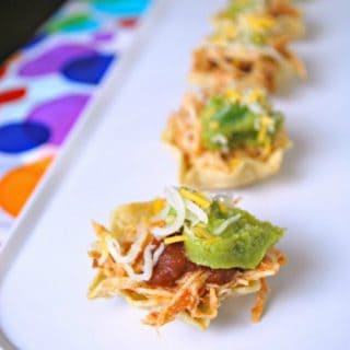 Chicken Taco Cups – Party Appetizer