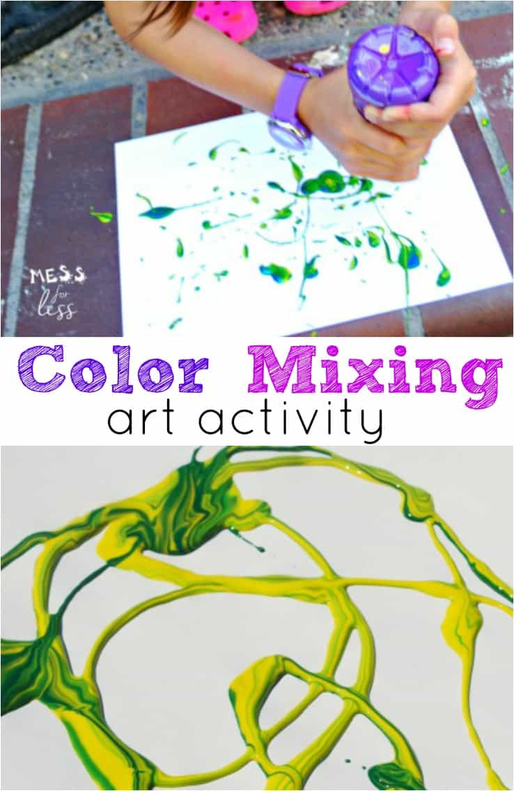 Looking for some fun activities for children this summer? Try this color mixing art activity and have your own outdoor adventure. ad #FruitShoot #MadeForAdventures