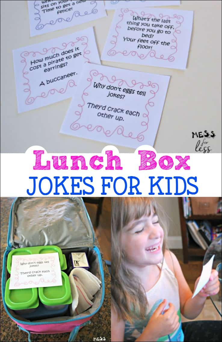 These lunch box jokes for kids had my little ones laughing all day long. Download the free printables and head back to school with some laughs. #ad @Rubbermaid