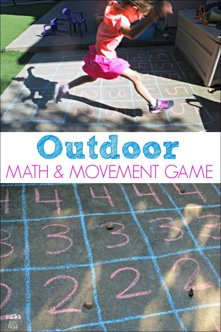 Outdoor Math Game - Mess for Less