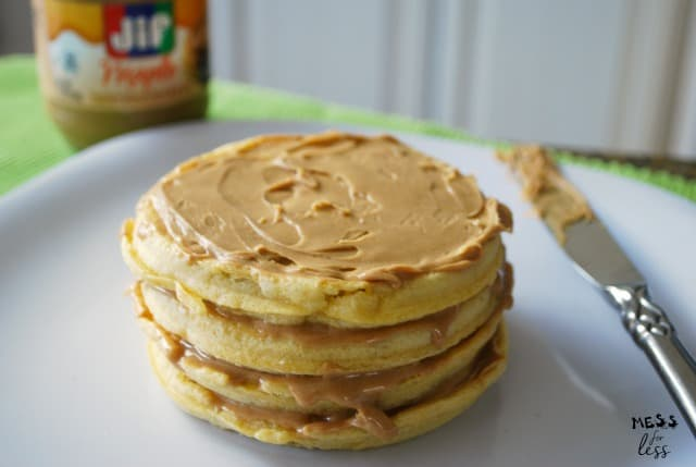 Peanut Butter Waffles - Mess for Less
