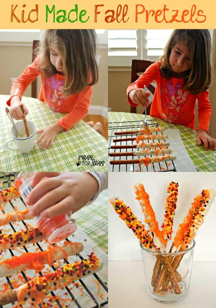 kid-made-fall-pretzels