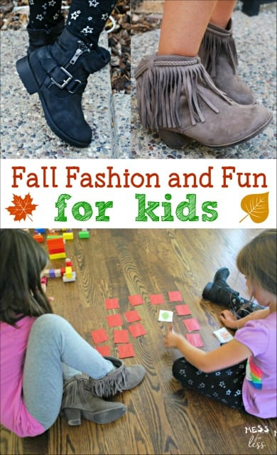 Loving the latest Fall shoe styles for kids! See how we combine them with some learning fun! #ad #FamousFootwear