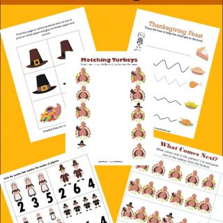 Free Kindergarten Worksheets for Thanksgiving
