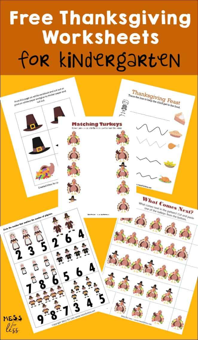 Kindergarten Activities Printable Worksheets