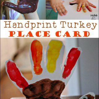 Handprint Turkey Place Card