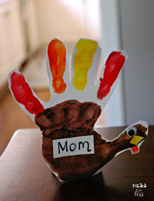 handprint turkey place card