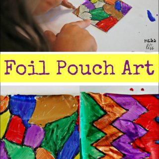 Kids Art Activity – Foil Pouch Art