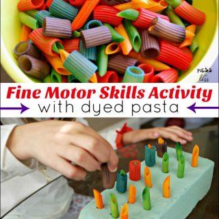 Fine Motor Skills for Preschoolers – Pasta Play