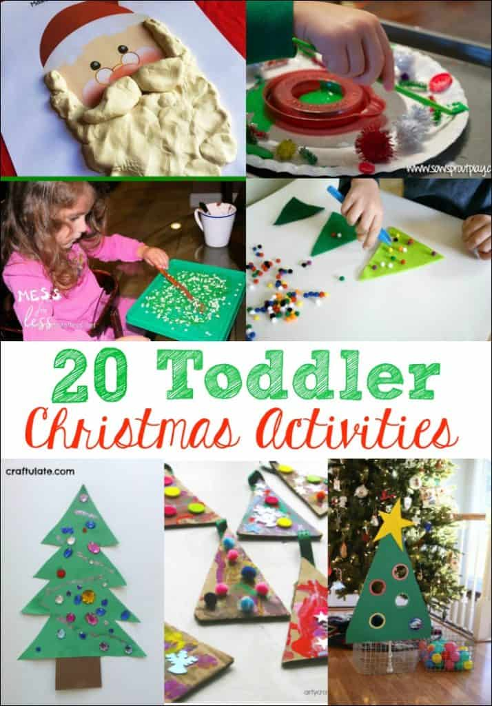 These 20 Toddler Christmas Activities are the perfect way to get little ones in the holiday spirit. Fun kids activities for Christmas!