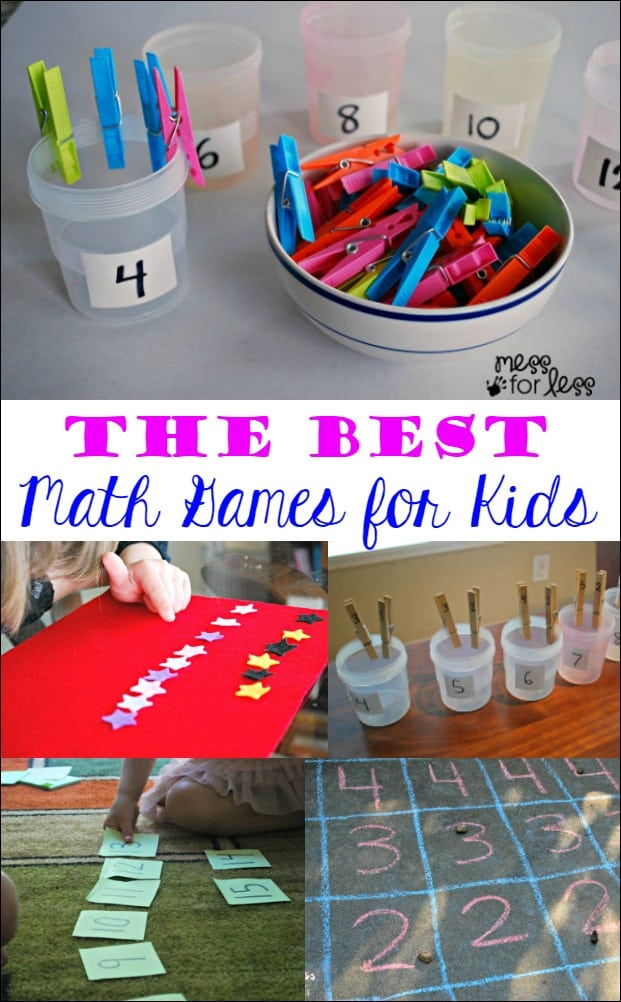 The Best Math Games for Kids - Mess for Less