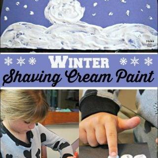 Winter Shaving Cream Paint