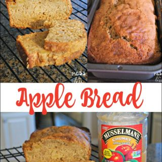 Apple Bread made with Apple Sauce