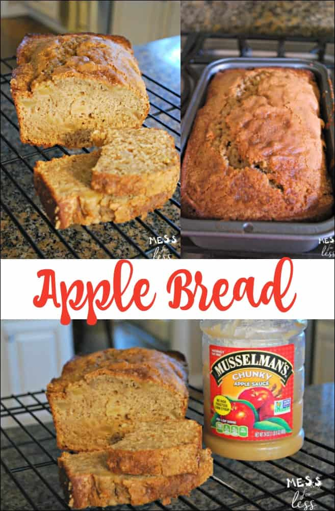 Apple Bread made with Apple Sauce - This recipe is easy to make and packed with great tasting apple flavor! sponsored #Musselmans