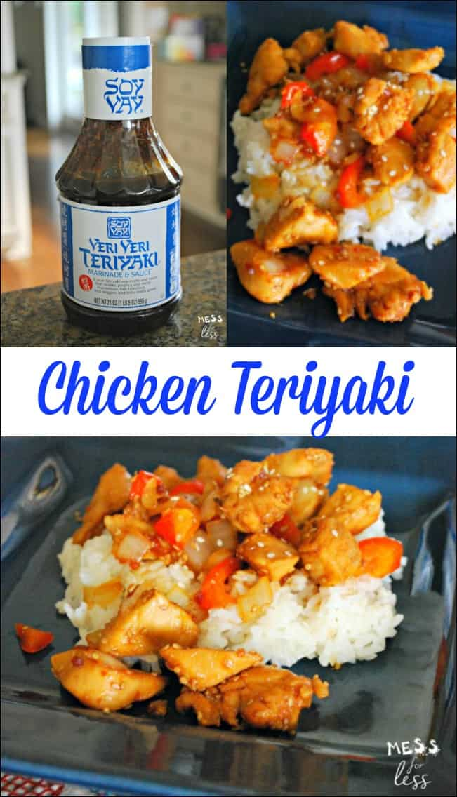 Make a quick and delicious chicken teriyaki dinner. This recipe is bursting with flavor that the whole family will love. #ad @SoyVey