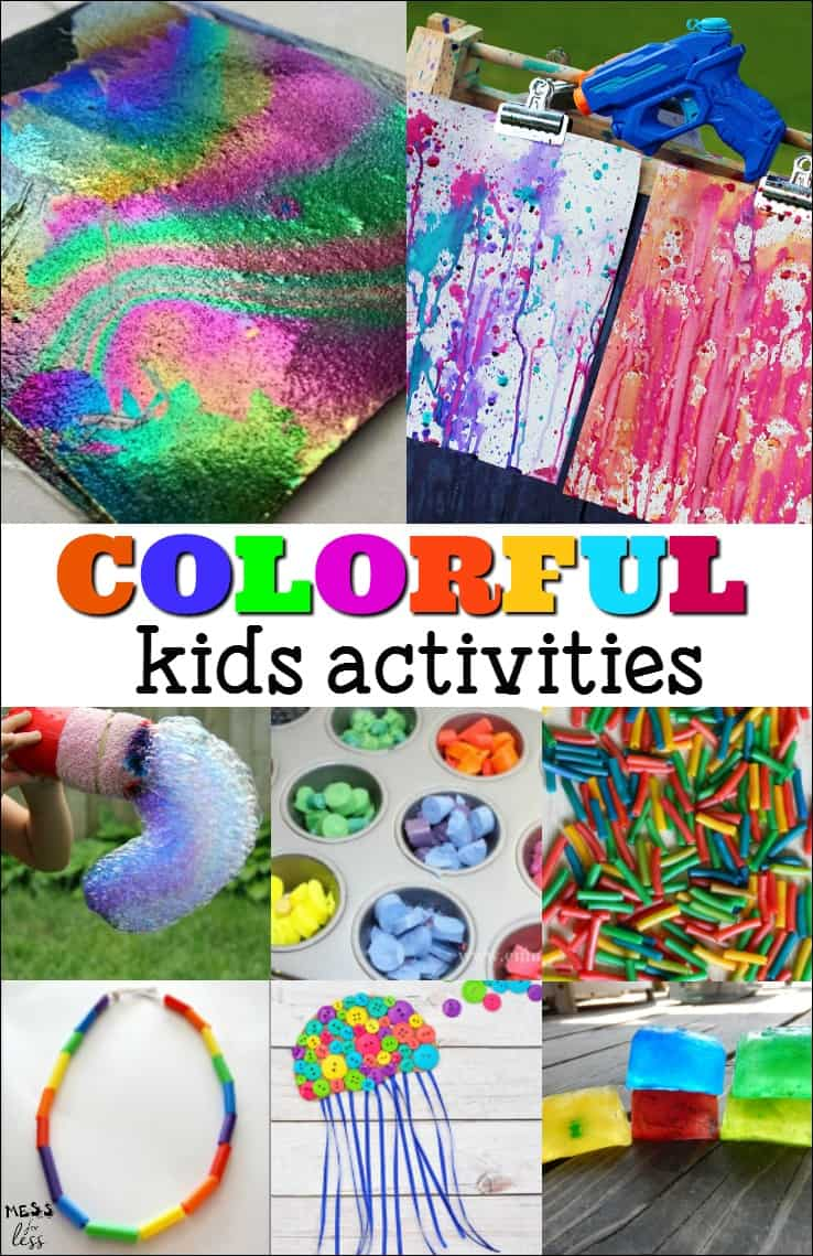 Colorful Kids Activities - My kids loved exploring color with these fun crafts, art projects and outdoor activities.