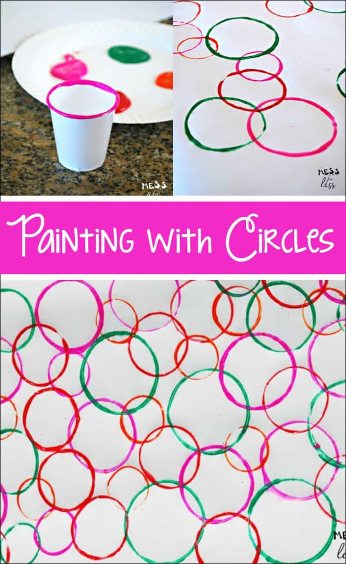 Painting with circles mess for less Fun painting ideas for toddlers