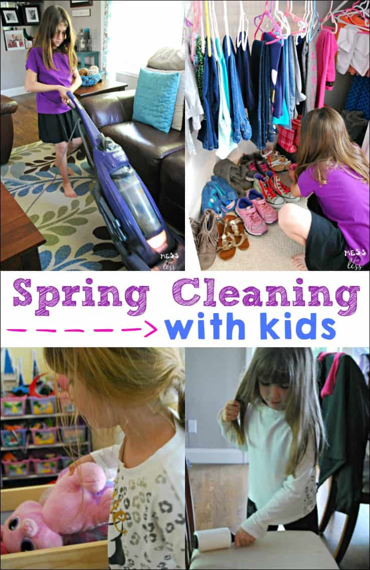 Spring cleaning with kids can be challenging. Here are some easy ways that kids can be helpful. #ad #SensimistAtCVS #BeGreater