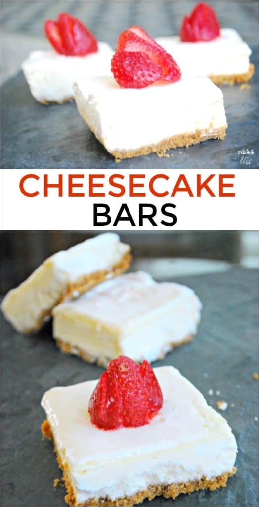 These cheesecake bars are perfect to bring to your next cookout. Easy to make and oh-so-good. Try a sweet swap with this recipe. #ad #SplendaSweeties #SweetSwaps @SPLENDA