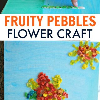 Flower Craft with Fruity Pebbles