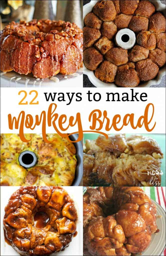 Fun variations on traditional monkey bread recipes. Here are 22 ways to make monkey bread that the whole family will love!