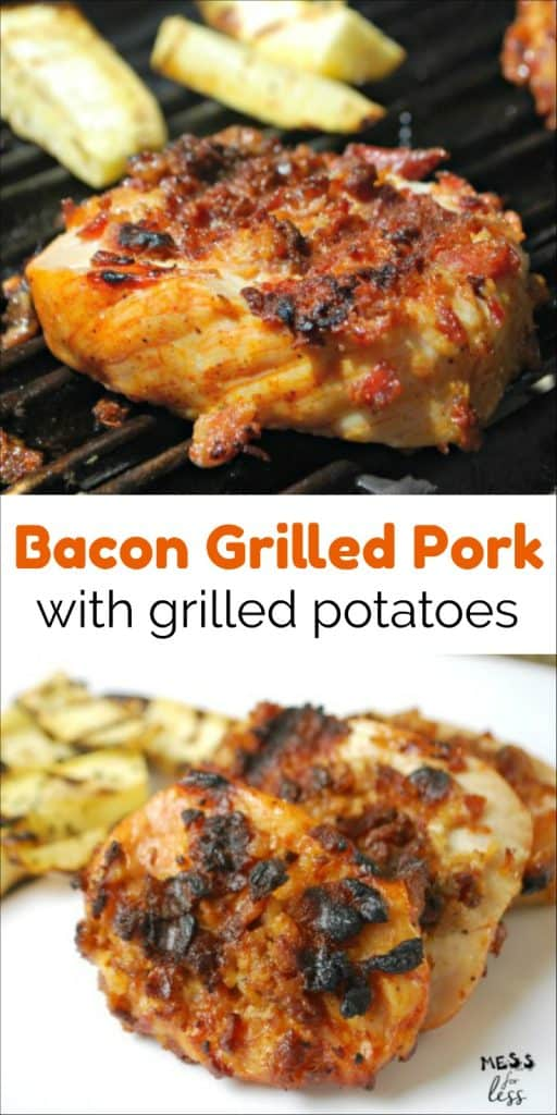 Grilled Pork with Bacon and Potatoes - This easy and tasty recipe is done in 30 minutes! Your family will love it! sponsored #RealFlavorRealFast @Smithfieldfoods