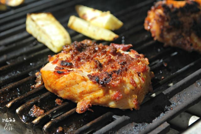 Grilled Pork with Bacon and Potatoes