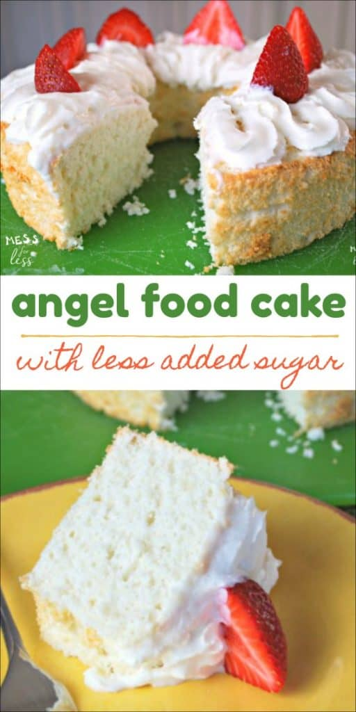 This angel food cake with less added sugar is the perfect treat for when you want to indulge, but don't want to sacrifice taste. #ad #SplendaSweeties #SweetSwaps @SPLENDA