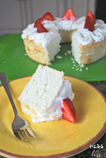 angel food cake with less added sugar