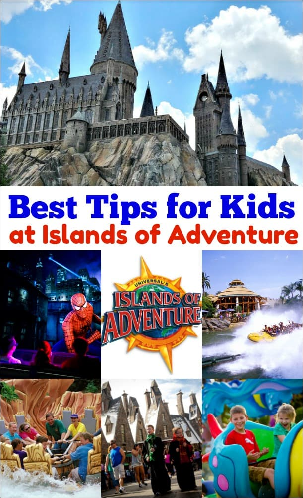 Best Tips for Islands of Adventure with Kids - if you are heading to Florida for a family vacation use this a guide for the best kid friendly rides at Universal's Islands of Adventure.