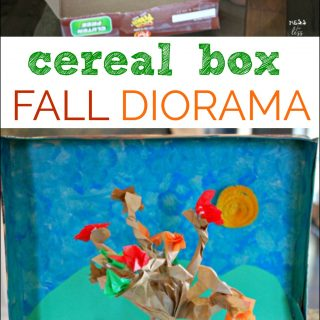 Fall Diorama with Cereal Box