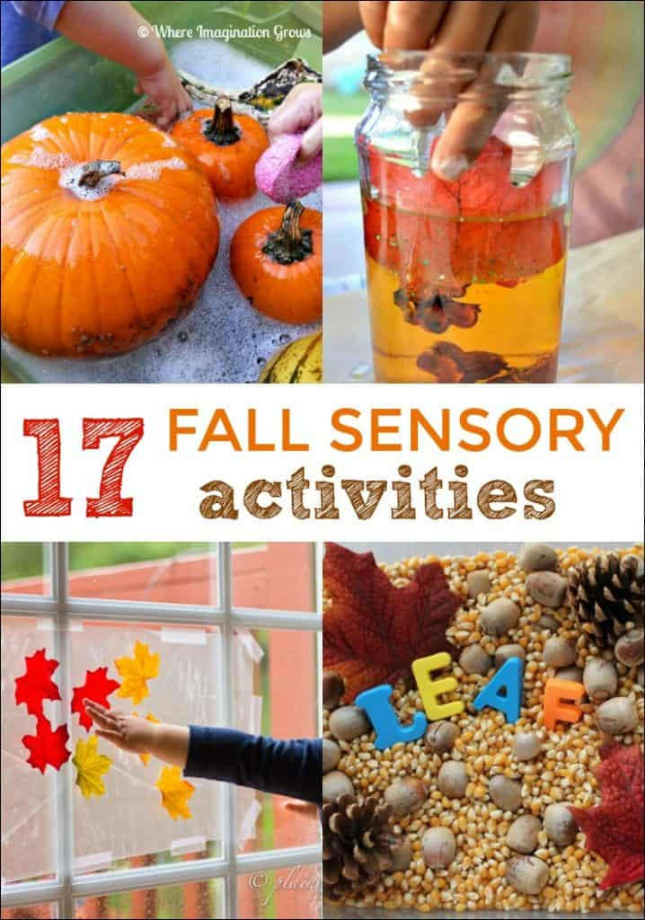 These Fall Sensory Activities will keep little ones busy this season. So many hands on ways to have Fall fun!