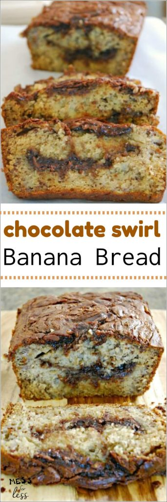This Chocolate Banana Bread is sweet, moist and full of chocolate flavor!