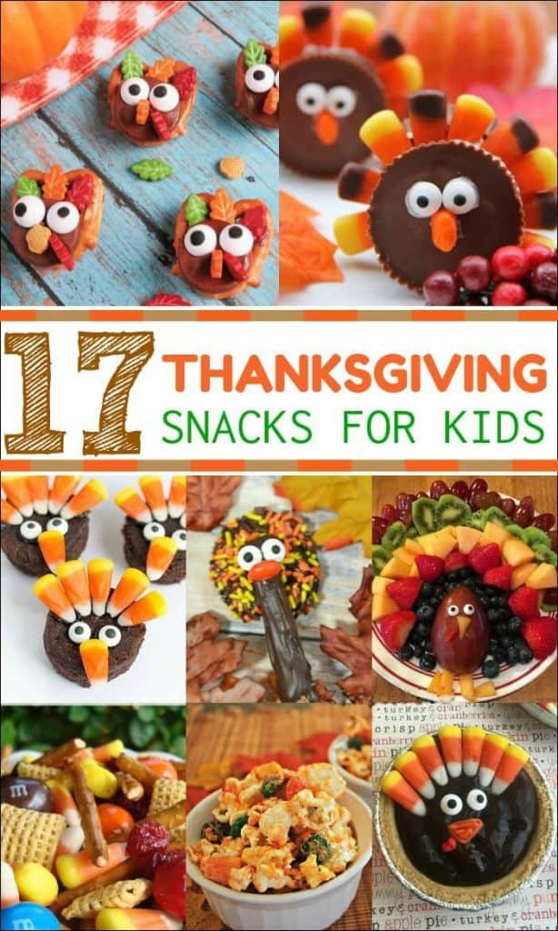 Get the kids involved in Thanksgiving festivities with these Thanksgiving Snacks for Kids. Perfect for a classroom party or for the big day! #Thanksgiving #Thanksgivingsnacks #Thanksgivingfood