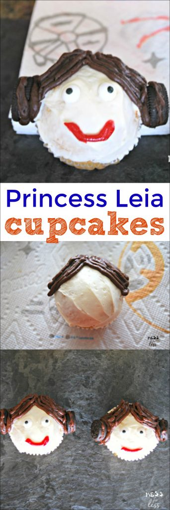 Princess Leia cupcakes are the perfect treat to make to celebrate Halloween or a Star Wars movie. #AD #QuickerPickerUpper #StarWars #TheLastJedi